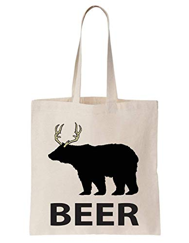 Beer Bier Bear Logo Icon Drunk Animal Schultertasche Bag