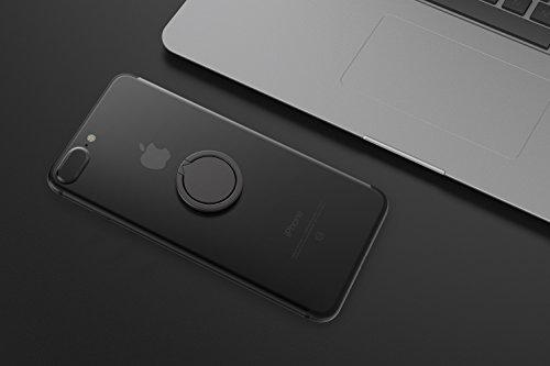 Kronya® | 360° drehbarer Smartphone Fingerhalter | Case Finger Griff Halter Halterung Handy Hülle Ring Ringhalter Ständer | Kompatibel mit Apple iPhone iPad Samsung Galaxy | Modell 4 (Schwarz)