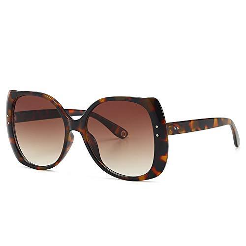 WyaengHai Fashion Sonnenbrille Street Shot Sonnenbrille Damen Autofahren Sonnenbrille Big Frame Anti-Glare Shopping Sonnenbrille Leichte Sonnenbrille, Kunstharz, braun, Einheitsgröße