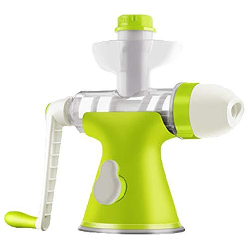 OCYE Manuelle Eismaschine, Entsafter für die Eismaschine zu Hause, eine Maschine, doppelte Verwendung, leistungsstarke Basis, geeignet für hausgemachtes EIS, frisch gepresster Saft (grün)