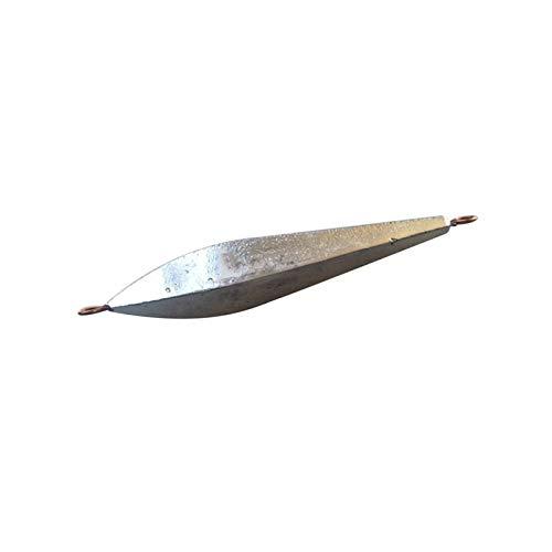 HSLINU 10pcs plombs de pêche au Diamant Plombs en Plomb Poids de pêche en mer Matériel de pêche à la Carpe avec Anneaux Doubles pour Le matériel de pêche en Plein air 50g 60g 70g 80g (Size : 50g)