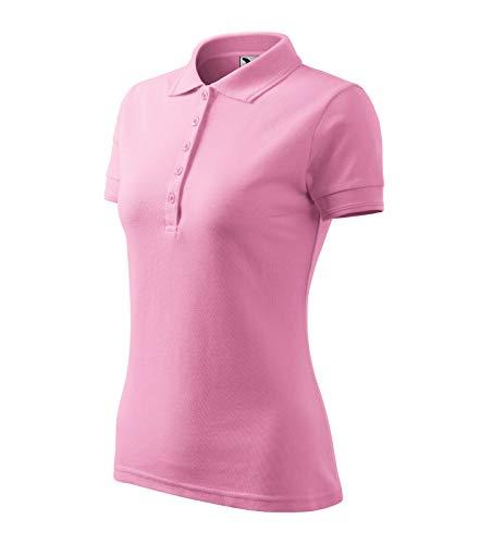 Poloshirt Polohemd für Damen Pique Polo von Adler (S, rosa)