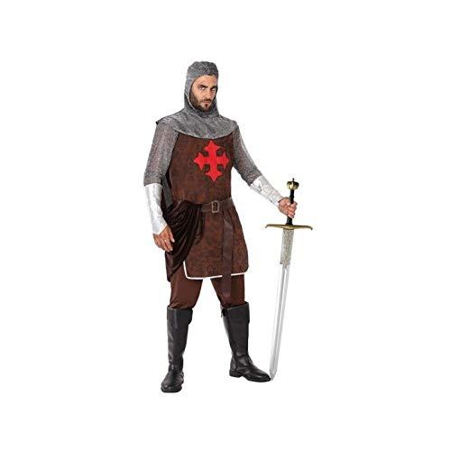 Atosa-61395 Atosa-61395-Disfraz Caballero Cruzadas-Adulto Hombre, Color marrón, XS a S (61395 ,...