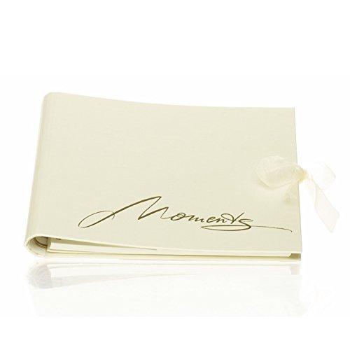 Rössler 1877882000 - fotoalbum/gastenboek (50 witte pagina's, 25 vellen, 22 x 18 cm) Curious Gold met tekst en lus