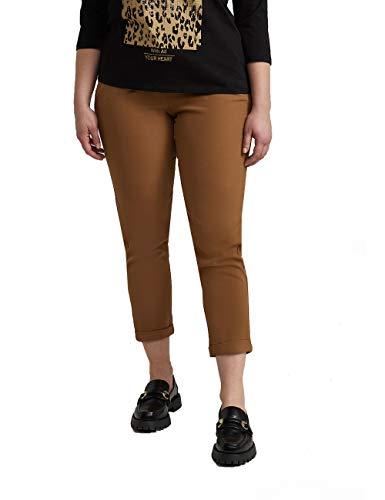Fiorella Rubino : Pantaloni Carrot in Tessuto Tecnico Beige 47 Donna (Plus Size)