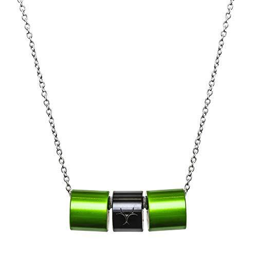 RETO SPORTS NECKLACE(レト スポーツネックレス) (グリーン×ブラック, Lサイズ:45cm~50cm)
