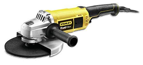 Stanley FatMax Zweihand-Winkelschleifer FME841 (2.200 Watt, 230mm Scheiben-ø, mit 3-fach verstellbaren Zusatzgriff, Sanftanlauf, für alle Standard-Trenn, Schleif- und Schrupparbeiten)
