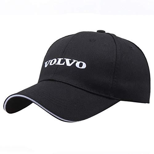 QOHNK Sombrero Negro Algodón Bordado con Letras Volvo Gorra de béisbol Snapback Moda Papá Sombreros para Hombres y amp;Gorras de Camionero para Mujer