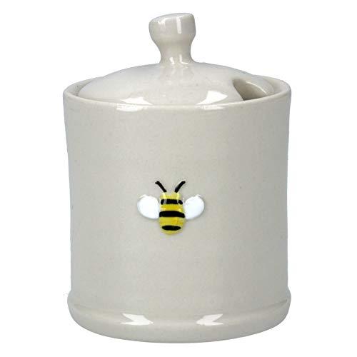 Gisela Graham Mini Keramische Honing Pot – Beige – 7,5cm