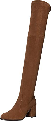 Stuart Weitzman Tieland Over The Knee Boot Coffee Suede Stretch 7 M