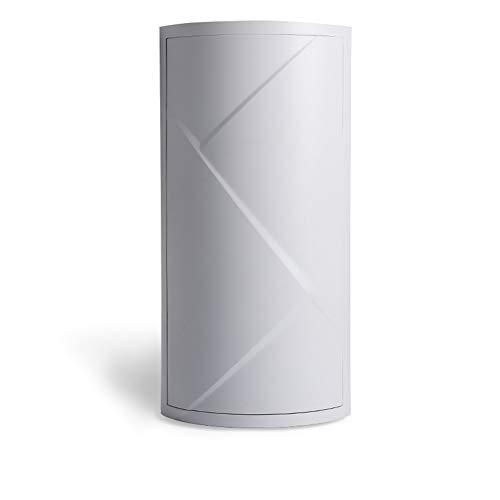 Badzubehör Kunststoff Eckregal rotierenden Lagerregal Waschtisch Kosmetik Finishing Rack geschlossen Aufbewahrungsbox geeignet für Bad Küche WC frei Stanzen