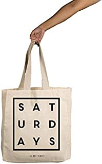 Saturday's Tote Bag| Canvas| Fashion| Eco Friendly| Shoulder Bag| for Gym Beach Shopping College| The Art People|