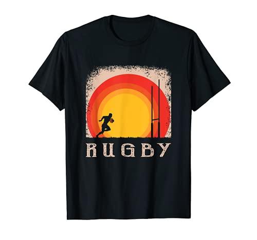 Weinlese Art Rugby T Shirt Rugby spieler Fan Stück T-Shirt