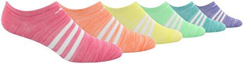 adidas Girls' Superlite No Show Socks (6-Pack)