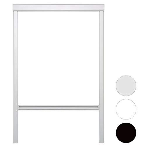 VINGO Verdunkelungsrollo 206 Weiß für Dachfenster Thermo Sonnenschutz für Velux Fenstersysteme Dachfenster Verschiedene Größen Fenstertypen