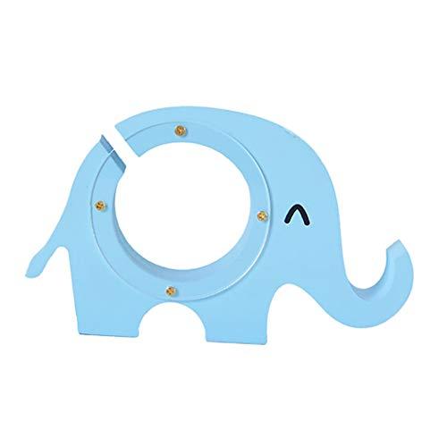 Fenteer Pintado a Mano de Madera Animal Elefante Moneda Caja de Ahorro en Efectivo Alcancía Muebles para El Hogar Decorativo ~ Azul