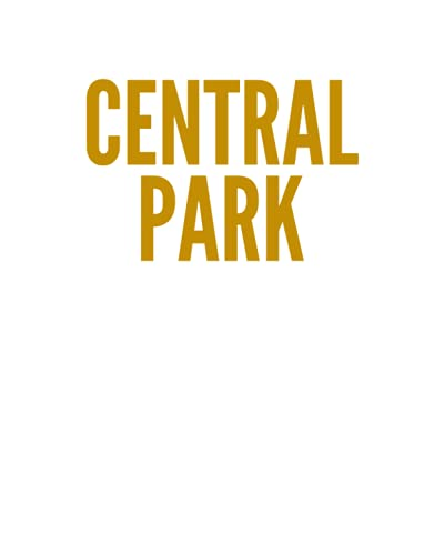 CENTRAL PARK: A Decorative GOLD and WHITE Designer Book For Coffee Table Decor and Shelves   You Can Stylishly Stack Books Together For A Chic Modern ... Stylish Home or Office Interior Design Ideas