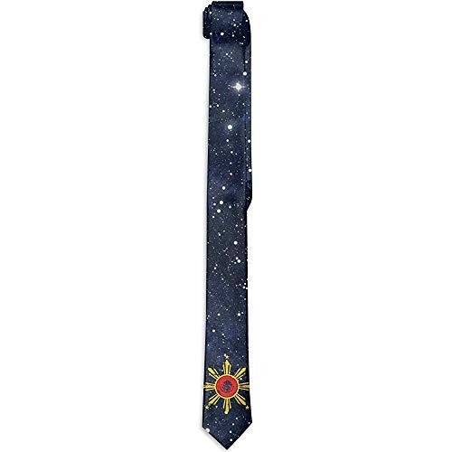 Inner-shop Cravatta con stampa floreale cravatta da uomo, bandiera filippina Argentina ideale per le missioni