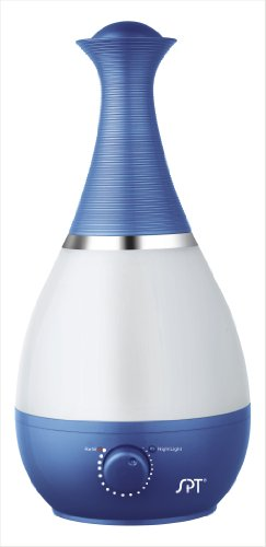 Ultrasonic Humidifier with Frangrance Diffuser and Night Light (Blue)
