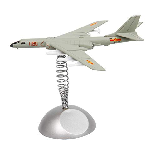 Perfeclan Avión del ejército Militar Modelo Bomber-6K avión de transporte-20 Aviones de Combate Coche Mesa de Escritorio decoración Ornamental Regalos - Cazadora Bomber
