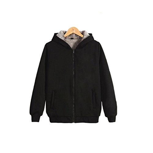 Perfectii Sweatjacke, Kapuzen-Sweatshirt Fleece-Innenseite Hoodie Zipper Kapuzenpullover Pullover Jacke Sweatjacke Warm Gefüttert Unisex