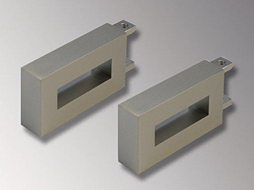Liedeco Endstück, Endknopf Cubis IV | eckig | Nickel-matt | 2 Stück