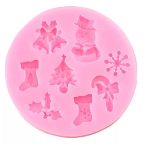 ARTAKA Moldes de Silicona de Copo de Nieve de Campana de árbol de Navidad,Herramientas de decoración de Pasteles yMagdalenas,Molde de Chocolate y Caramelo