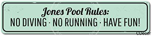JOHUA Pool Rules Blechschilder Warnschild Metallposter Eisen Kunst Retro Zeichen Promi Malerei Gebäude Garten Bauernhof Cafe Bar als Geschenk