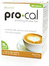 R-Kane Pro-Cal Shake High Protein Shake and Pudding Mix, Weight Loss and Natural Energy Booster, Protein Powder Meal Replacement Shake- 15g of Protein, 7 Packets Per Box (Mocha)