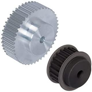 Splined Shaft for Timing Belts T5 20 Teeth Length 160mm Material Aluminium