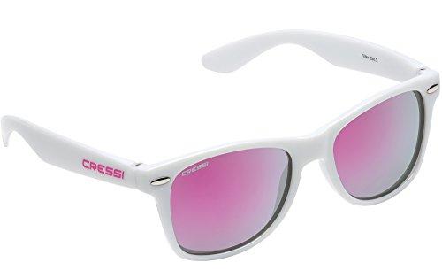 Cressi Maka - Gafas de Sol para Niños Unisex, 100% de Protección UV, Blanco/Rosa
