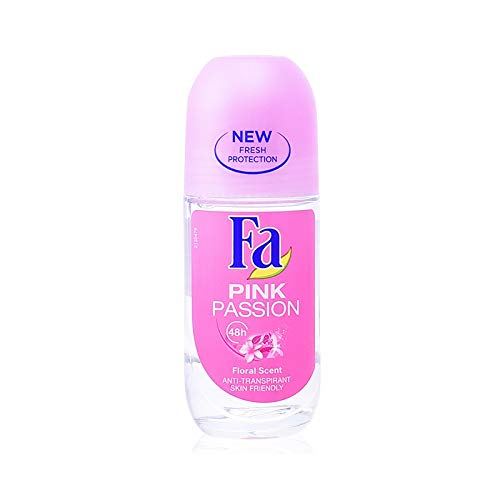 "FA Women Deo Roll-on""Pink Passion\"" in Glasflasche - 6er Pack (6 x 50 ml)"