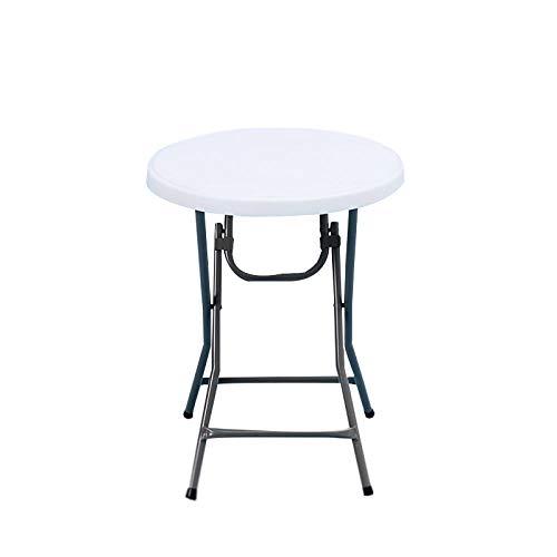 DX Vouwtafel Outdoor Draagbare Kleine Eettafel Eenvoudige Ronde Diameter 60Cm [Meter Witte Tafel]