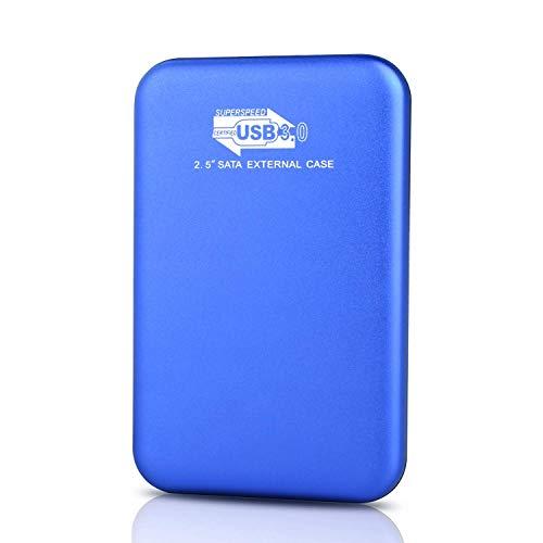 Disco duro externo portátil de 2 TB, actualización de disco duro portátil USB 3.0, compatible con PC, Mac, computadora de escritorio y portátil azul