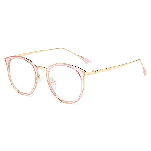 Anti-blue Light Glasses Fashion Glasses for Women Retro Lightweight Fashion Sunglasses Flat Anti-blu-ray Blocking Frame Clear Sight