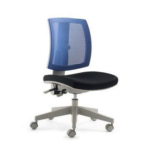 Mayer Kinder- und Jugenddrehstuhl, Kunststoff, Sitz Stoff schwarz + Rücken Netz blau, One Size