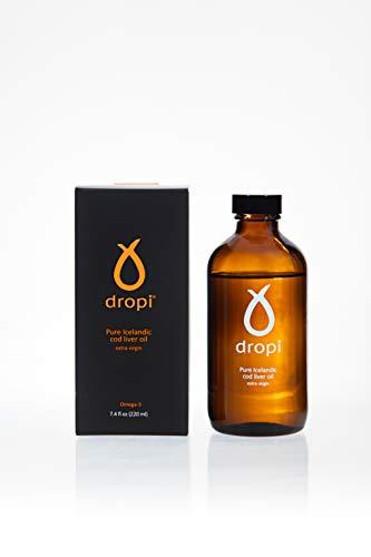 Dropi Pur huile de foie de morue islandaise - Supplémentaire Vierge 220 Ml