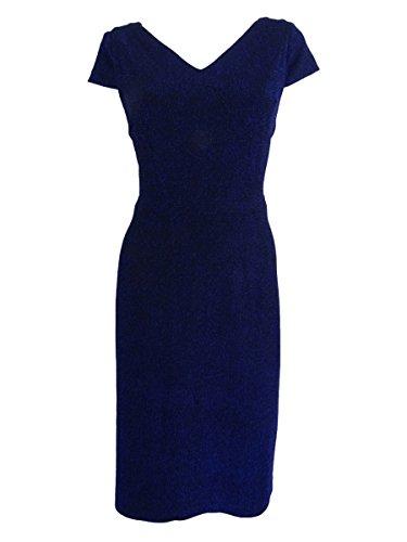 Betsey Johnson Women's Shimmer Textured Knit Sheath Dress, Electric Blue, 8 (Apparel)