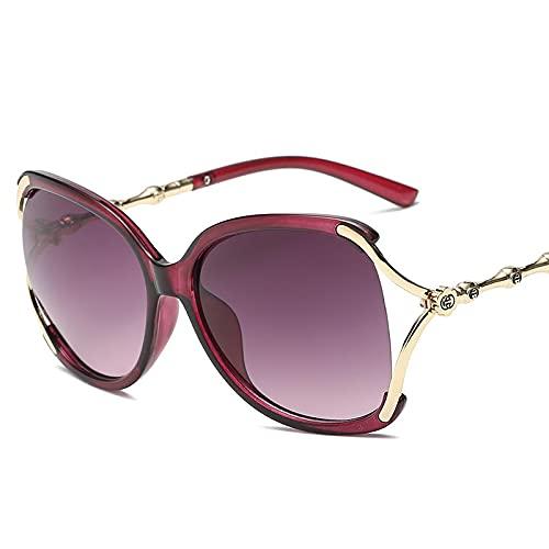 Secuos Gafas De Sol De Moda para Mujer con Lentes Uv400, Gafas De Sol De Conducción Clásicas Clásicas De Diseñador De Marca para Mujer, con Estuche