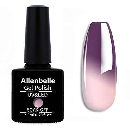 Allenbelle Color Changing Nail Polish Gift set Color Changing Gel Polish Set Mood Soak Off Uv Led Gel Nail Polish 5722