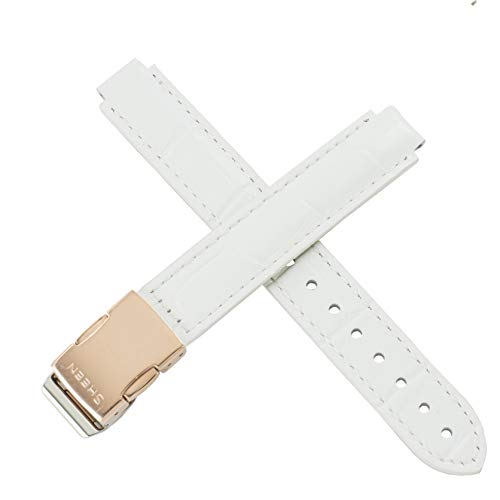 Casio 10482905 - Correa de reloj para SHE-3034GL-7A SHE 3034GL 3034, color blanco