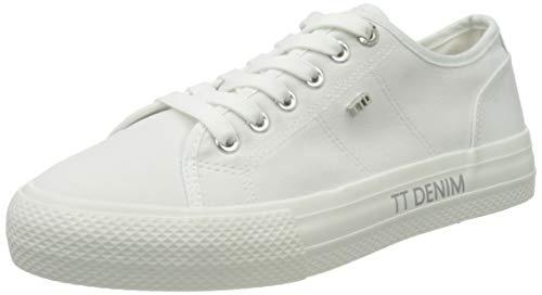 TOM TAILOR Damen 1195204 Sneaker, Weiß, 38 EU