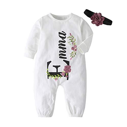 Livoral Neugeborene Säuglingsbaby Mädchen Karikatur Katzen mit Kapuze Spielanzug Overall Kleidung(#4 Weiß,18-24 Monate)