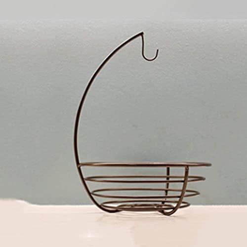 Canasta de Frutas antioxidante de diseño Moderno, Canasta de Almacenamiento de Rejilla de Hierro Multiusos con Gancho en la Cocina, contenedor de Metal de Mesa
