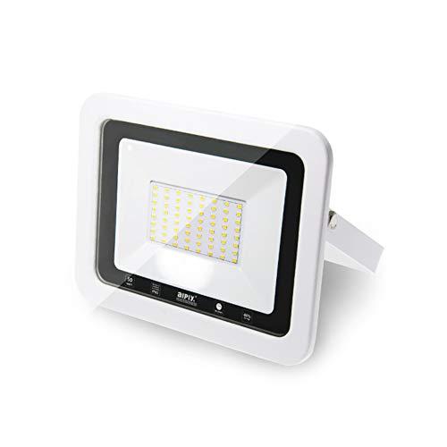 MOMEX Faretti LED da esterno da 50W alta luminosità Faro led Impermeabile IP65 per Giardino Cortile Lampada a Risparmio Energetico Illuminazione per Esterno/Interno(Bianco Caldo/3500K, 50W)