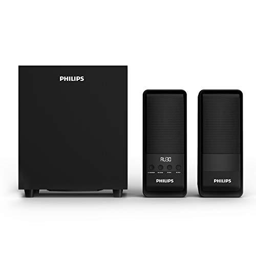 Philips Audio MMS2050/94 50W,2.1Channel Multimedia Speaker with Bluetooth,USB,FM