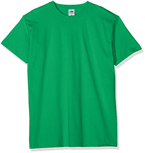 Fruit of the Loom Valueweight 5 Pack Camiseta, Verde (Kelly Green 47), Large (Pack de 5) para Hombre
