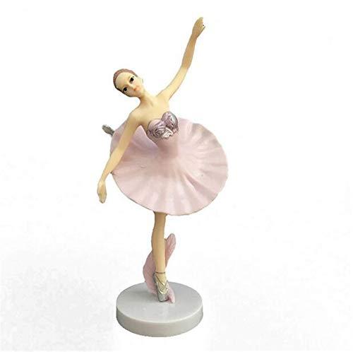 QYL Set van 3 Ballerina Meisje Mooie Dans Decoratie Model Verjaardag Taart Decoratie PVC Handwerk Dansende Meisje Ornamenten 14.5CM