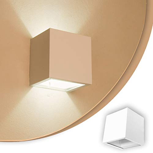 Arandela 2 fachos Externa E Interna Para Lâmpada G9 Alumínio Branca