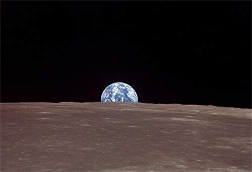 New Horizon Aviation, LLC Earth from The Moon Hi Gloss Space Poster Fine...